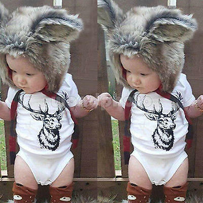 2016 Newborn Baby Boys Girls Animal Romper Costume Outfit Cotton Clothes Set -90