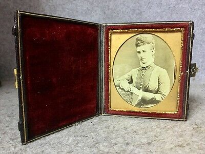 Antique Photograph Princes Alexandra Princes of Wales in Beautiful Morocco Case