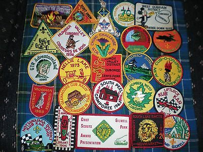 """25 boy scouts """"scouting"""" event, camp, area ,council badges patches some old VS-4"""