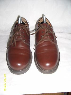 Mens  Clarks chocolate brown Leather shoes uk size 7 vgc