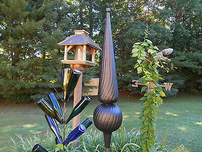 "36"" Black Finial spire roof sculpture yard decor"
