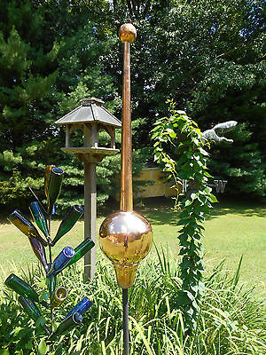 "48"" Copper Finial spire roof sculpture- handmade, big, and very attractive"