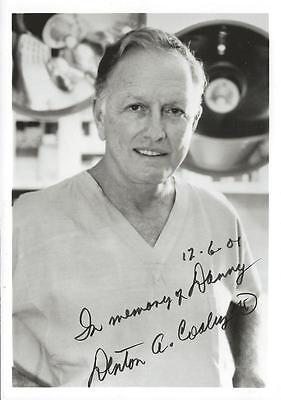 Denton A Cooley MD Signed 5x7 Photo