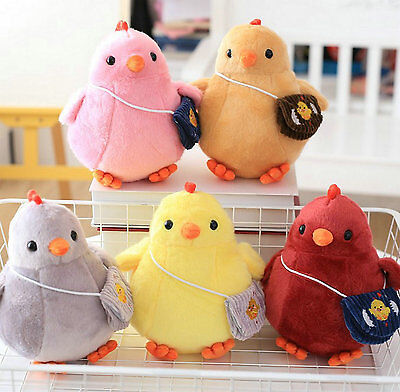 Cute Backpack Chicken Doll Multicolored Chicken Mascot Chicken Plush Toy Gift