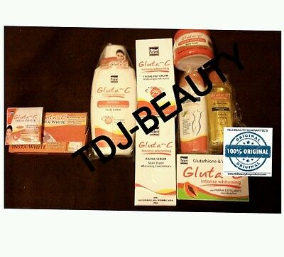 8 Set Gluta C  Body Whitening Instant Whitening  Full Set. .uk  Distributor. Tdj