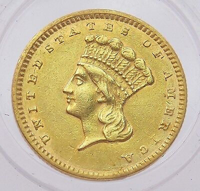 1857 Indian Princess $1 Dollar Gold Coin Type 3 Large Head (#4272)