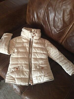 Next Girls Cream Coat Age 7-8 Used Very Good Condition