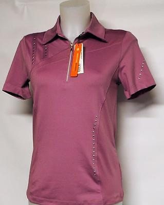 New Ladies Spanner Golf Polyester Spandex Zip polo golf shirt NWT XS