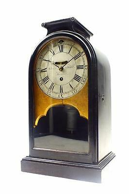 Antique Table Regulator 8 Day Fusee Ebony Bracket Clock By John Flook Of London