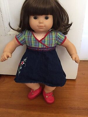 Retired American Girl Doll Bitty Baby Twin Brunette Brown Plaid Outfit