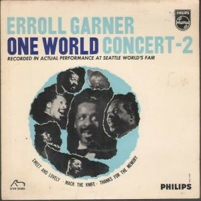 """ERROLL GARNER One World Concert 7"""" VINYL 3 Track EP Featuring Sweet And Lovely"""