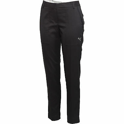 NEW Women's Black Puma Solid Stretch Golf Pants Size 6 NWT Fitness