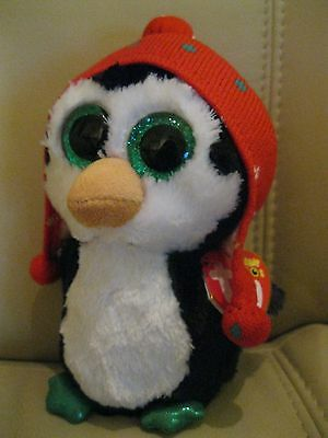Ty Toys - Beanie Boo - Freeze The Penguin - Brand New With Tags