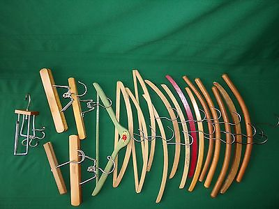 Lot of 18 Wood Clothes Hangers