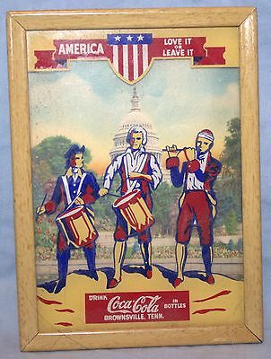 "Coca-Cola, Coke 1942 Patriotic Picture with Calendar - ""Drink Coca-Cola"""