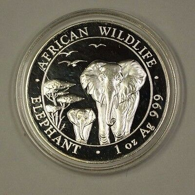 "2015 Somali Republic 100 Shillings Silver Coin ""African Wildlife"" 1ozt of .999"