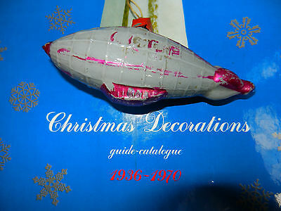 1940's !!! VTG Christmas Glass airship Decoration toy DIRIGIBLE Soviet space old