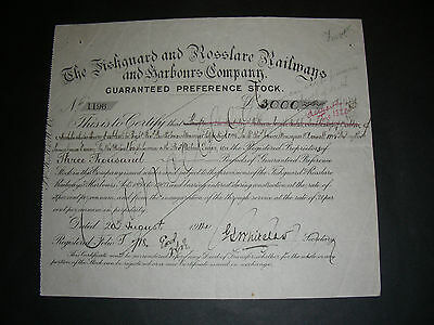 The Fishguard and Rosslare Railways and Harbours Company, shares, 1914