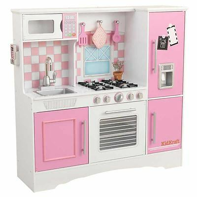 KidKraft Large Deluxe Wooden Culinary Play Kitchen Cooking Kids Girls Toy