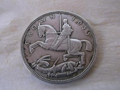 779 / A 1935 Silver Rocking Horse Crown ( St George And The Dragon )