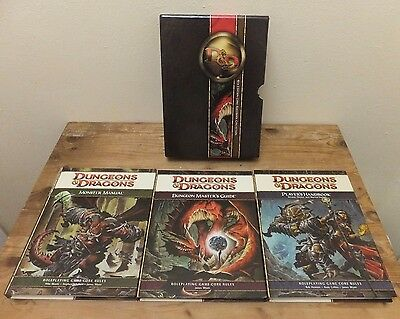 FDD/400 ~ DUNGEONS & DRAGONS 4th EDITION CORE RULEBOOK SET hardback 3-book set