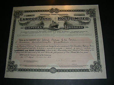2 x Lamport and Holt Limited, 1912 and 1918, different conditions