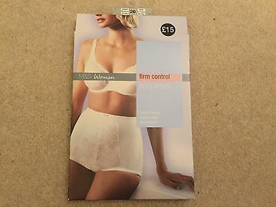 M&S Woman firm control lace panties / knickers BNIB size 20