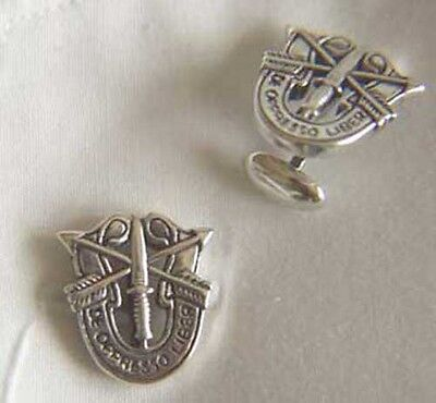 US Special Forces Cuff links Sterling Silver   SF DI