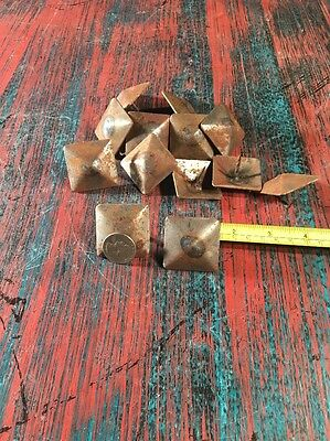 "Hammered Clavos (50) 1 1/2"" Nails Rustic Rust Color Furniture Tacks Hand Forge"