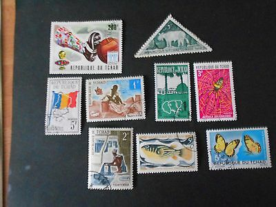 CHAD 9 Various Stamps