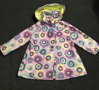 Purple And Yellow Floral Coat, Age 3-4 Years, Nutmeg