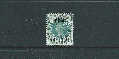 SG O42, 1/2d BLUE-GREEN WITH ARMY OFFICIAL FINE MOUNTED MINT
