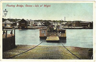 Floating Bridge, Cowes (chain operated) Isle of Wight colour dated 1907
