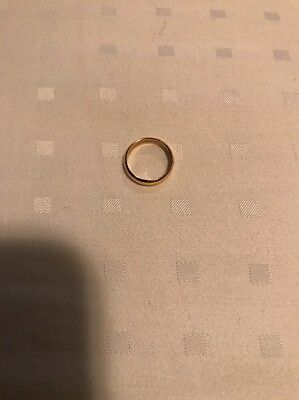 Baby's First Christmas 14K Gold 1/20th RGP Baby Ring