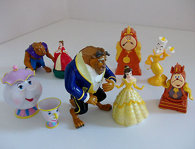 Disney Beauty and the Beast Mixed Toy Figures Bundle