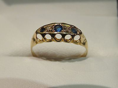 18ct VINTAGE SAPPHIRE AND DIAMOND RING- PLEASE SEE DESCRIPTION BELOW