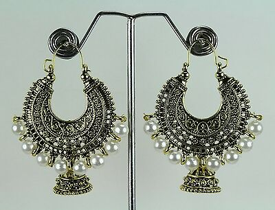 Golden Oxidized Wedding Traditional Party Indian Fashion Jewelry Earring Jhumka