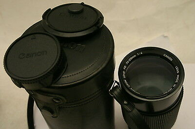 Canon 70-210mm F4 zoom lens. Canon FD fit