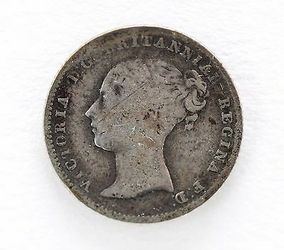 1840 Great Britain Silver 4 Pence Young Queen Victoria Fourpence Groat