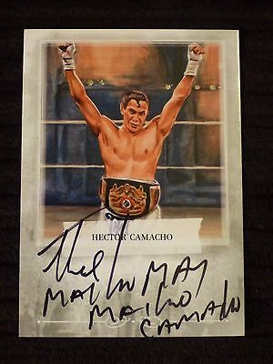 2010 Mecca Cigarette Hector Macho Camacho Autographed Boxing Card #A-HC3