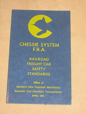 Chessie Systems FRA Railroad Freight Car Safety Standards April 1975 Card Book