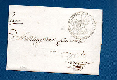 Venezia War For Independence Wrapper 1848 - With Round Venezia Cachet Stamp