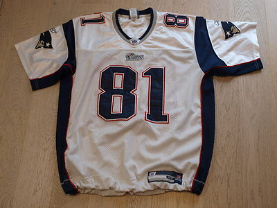 New England Patriots NFL American football shirt app L - XL Moss 81 official