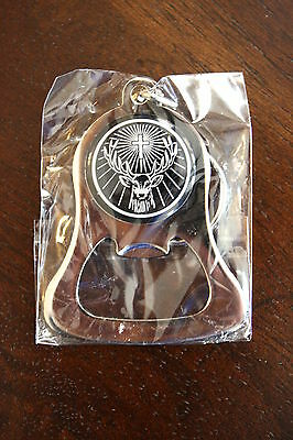 Jagermeister Keychain Bottle Cap Opener Chrome NEW SEALED IN PACKAGE MIP