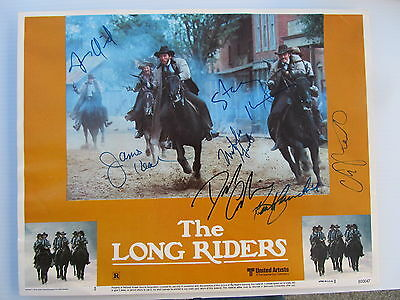 Autographed Lobby Card 'The Long Riders' Signed by 7 Cast Members