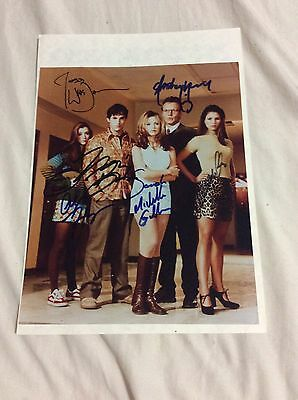 Buffy Cast Photo Signed Buy Joss Whedon Willow Giles, Xander, Cordelia Autograph