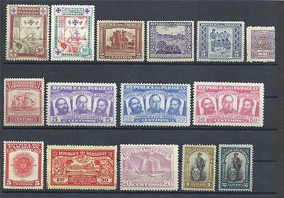 Paraguay 1933 and up variety MH MLH