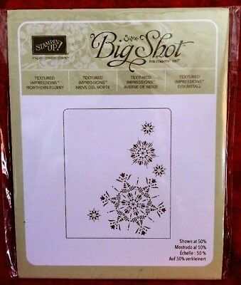 Stampin Up Embossing Folder NORTHERN FLURRY Christmas Snowflake Sizzix Retired