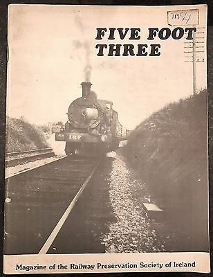 Five Foot Three Railway Preservation Society of Ireland Trains Booklet 1979/80
