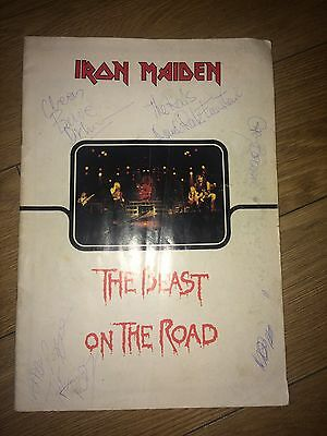 IRON MAIDEN signed THE BEAST ON THE ROAD tour programme